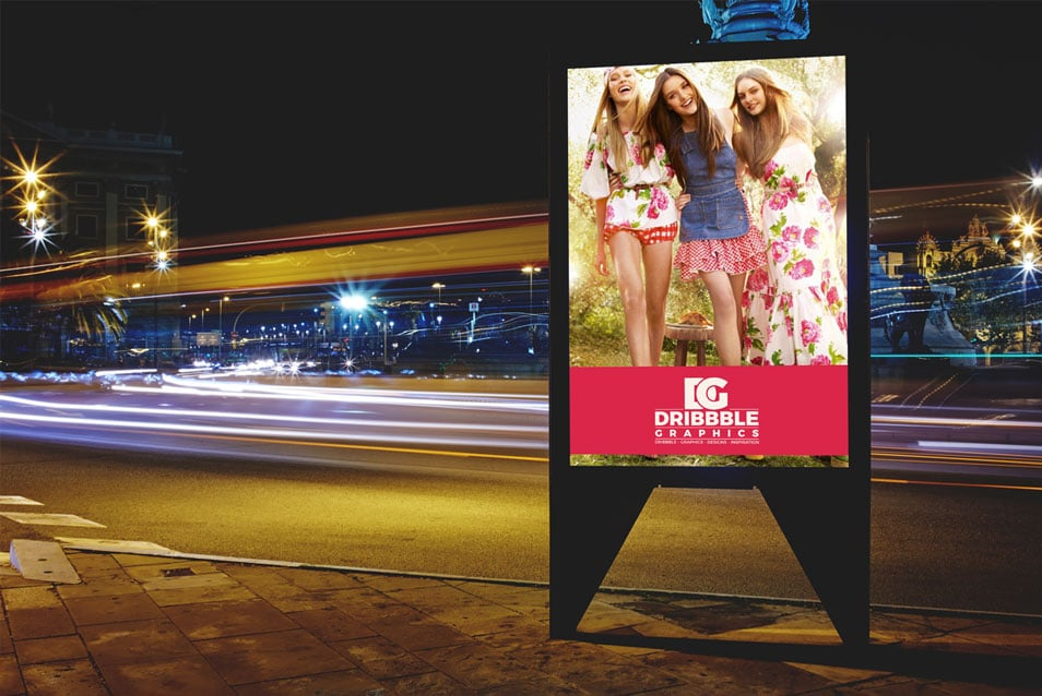 Free Roadside Billboard MockUp For Branding & Advertisement