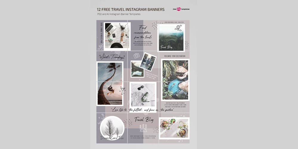 Free Travel Blog Instagram Templates