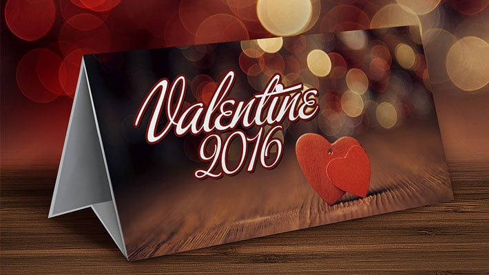 Free Valentine Table Top Mockup