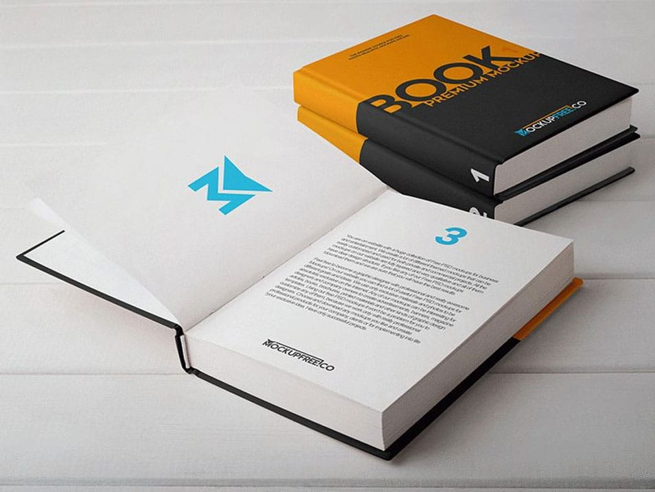 Hard Cover Book PSD Mockups