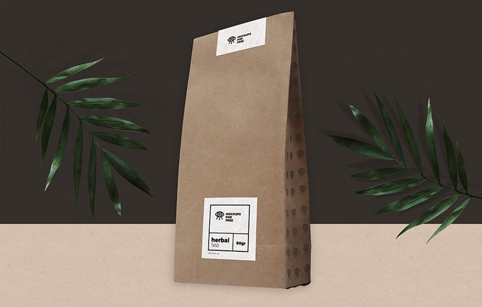 Herbal Organic Tea Pack Mock-up