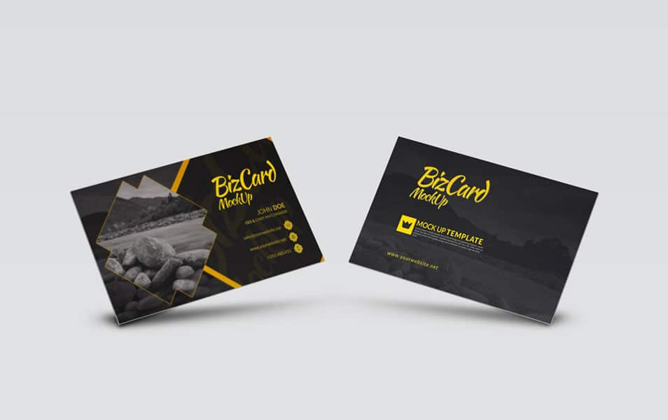 High Resolution Photo-realistic Business Card PSD Mock-Up