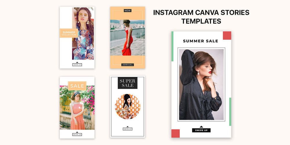 Instagram Canva Stories Templates PSD