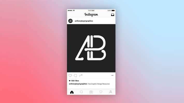 Instagram Post Page Mockup