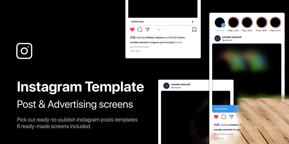 Instagram Post and Advertising Templates
