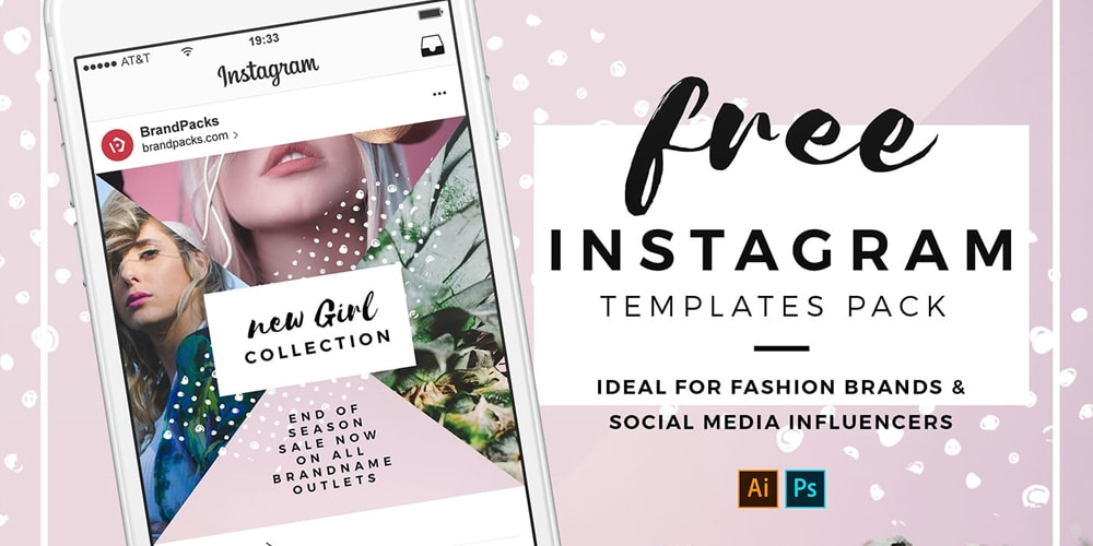 Instagram Templates in PSD and Vector