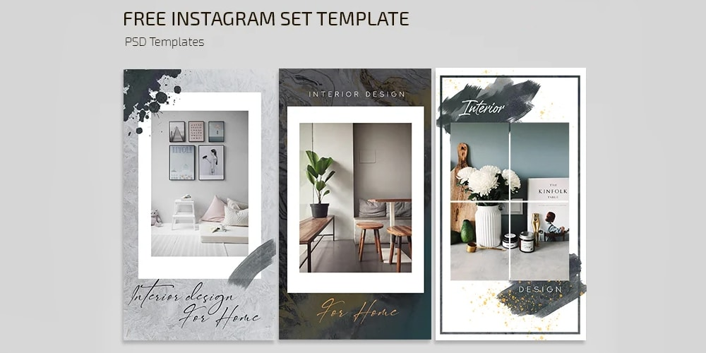 Interior Instagram Posts and Stories Template