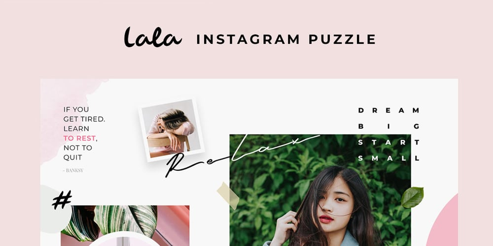 Lala Puzzle Instagram Templates PSD