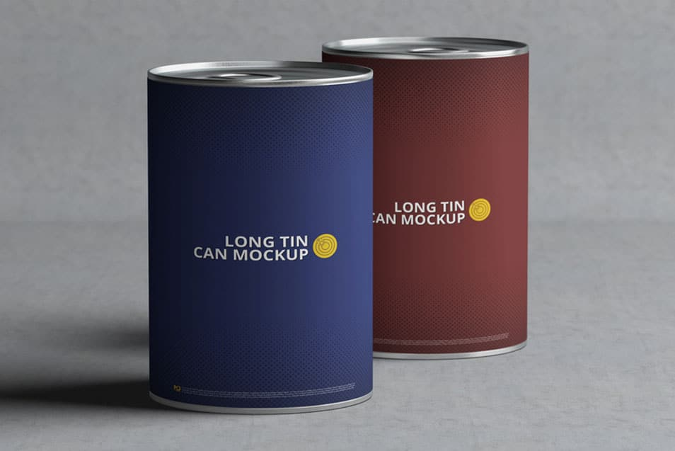 Long Tin Can Mock-Up