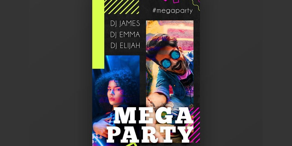 Mega Party Instagram Story Template