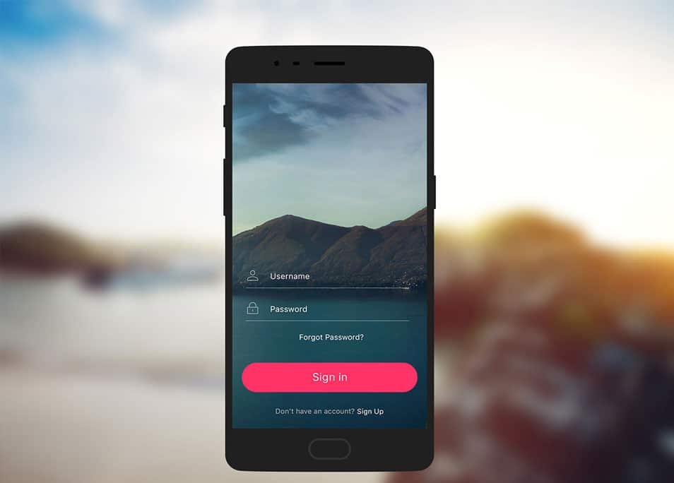 Mobile Login UI Kit with Mockup