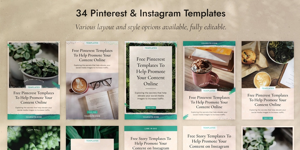 Pinterest and Instagram Templates