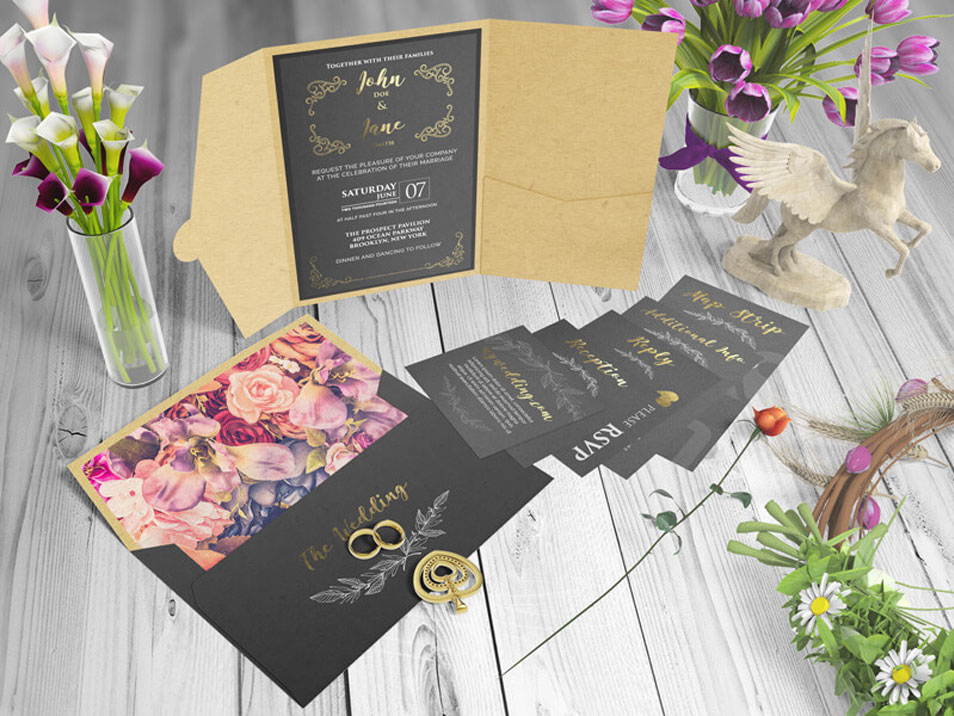 Pocket Invitation Mockups