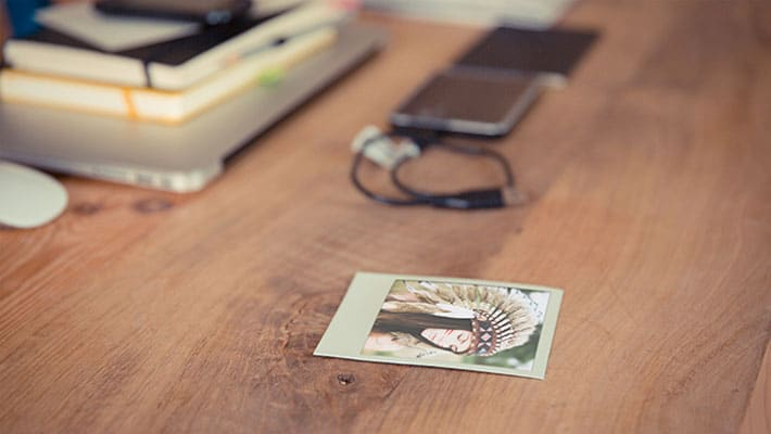 Polaroid Photo Frame Template