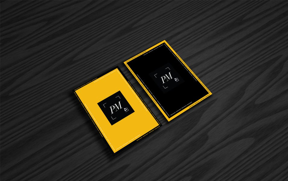 Posters Mockup on Black Wooden Background