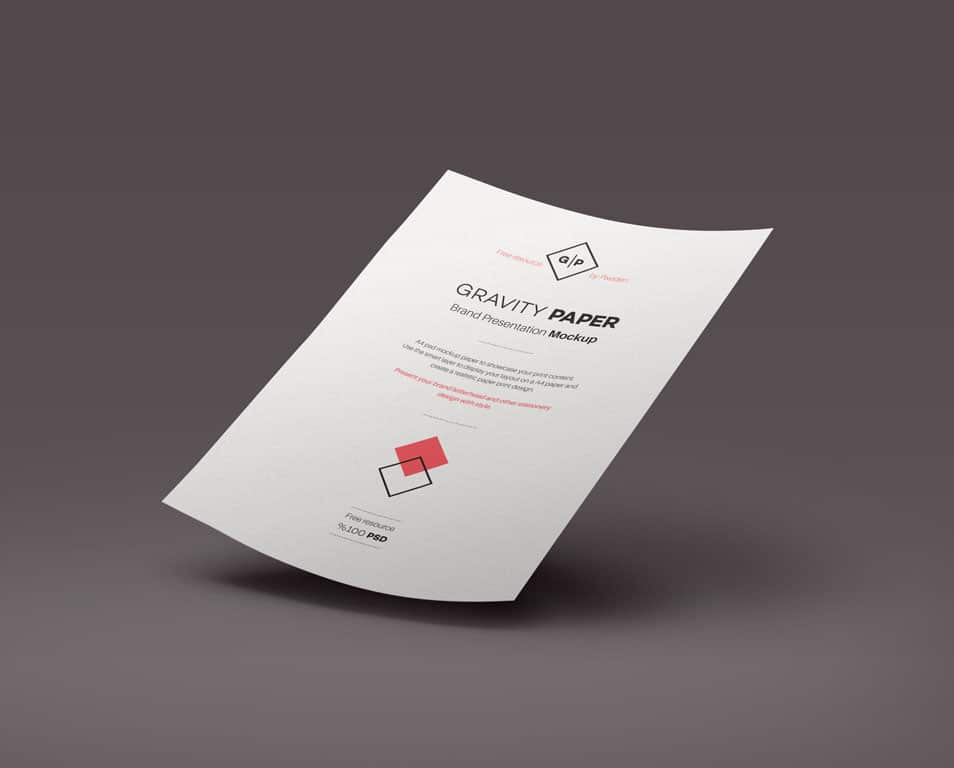 PSD A4 Paper Mock-Up