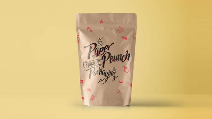 PSD Paper Pouch Packaging Mockup
