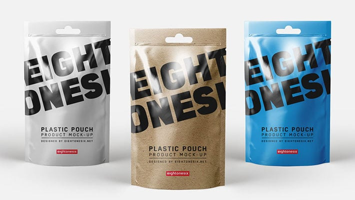 Realistic Plastic Pouch Mock-Up