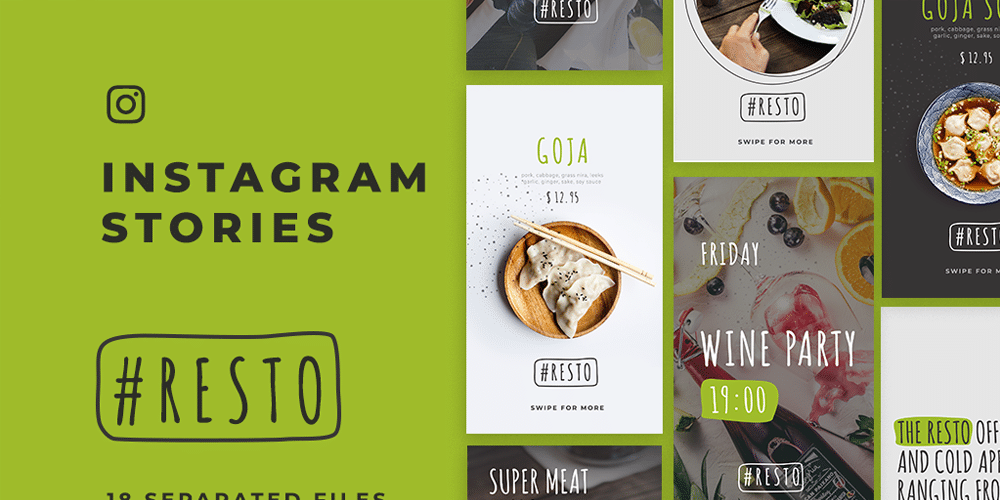 Resto Instagram Stories Template PSD