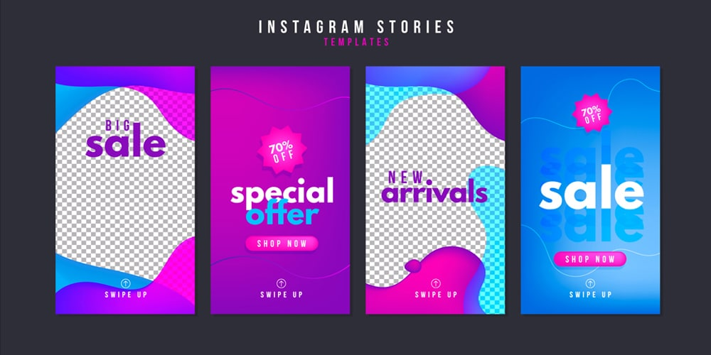 Sale Instagram Stories Templates Vector