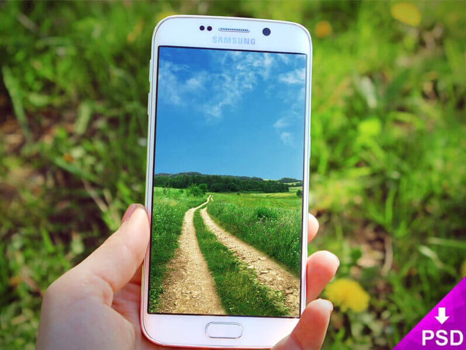 Samsung Galaxy S6 Edge Nature Mockup