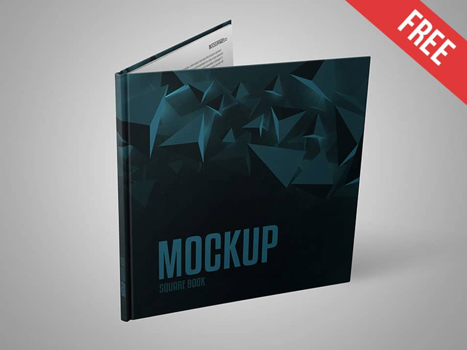 Square Book PSD Mockup