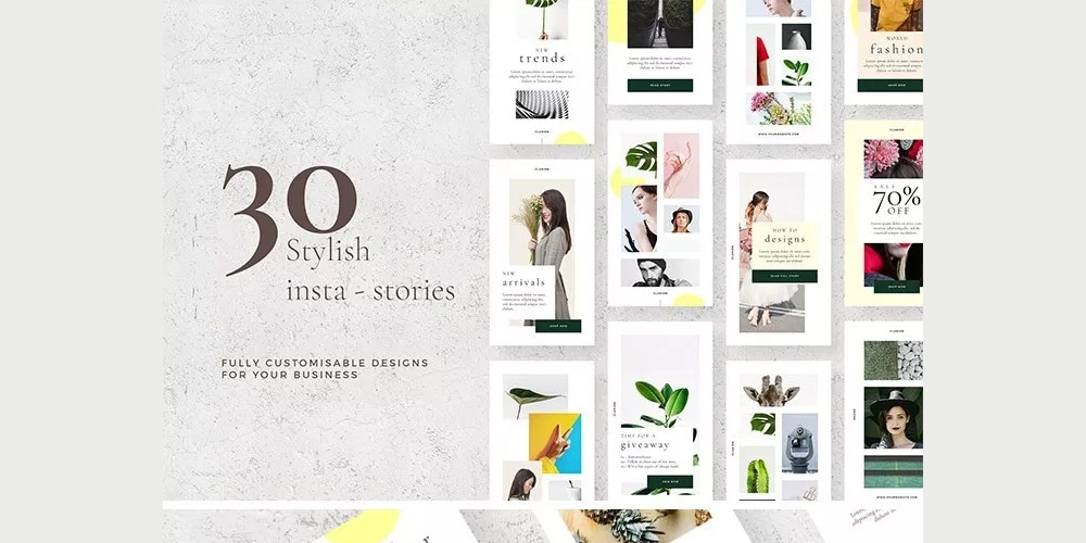 Stylish Instagram Stories Pack PSD