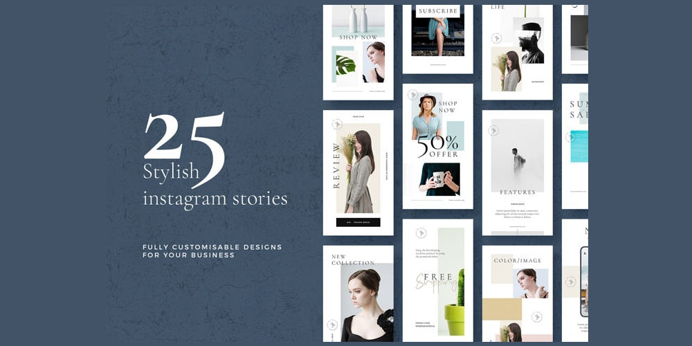 Stylish Instagram Stories Templates PSD