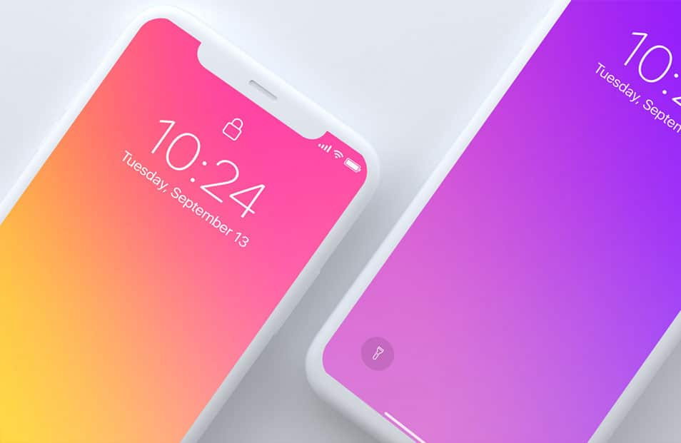 Top Light View iPhone X Mockup
