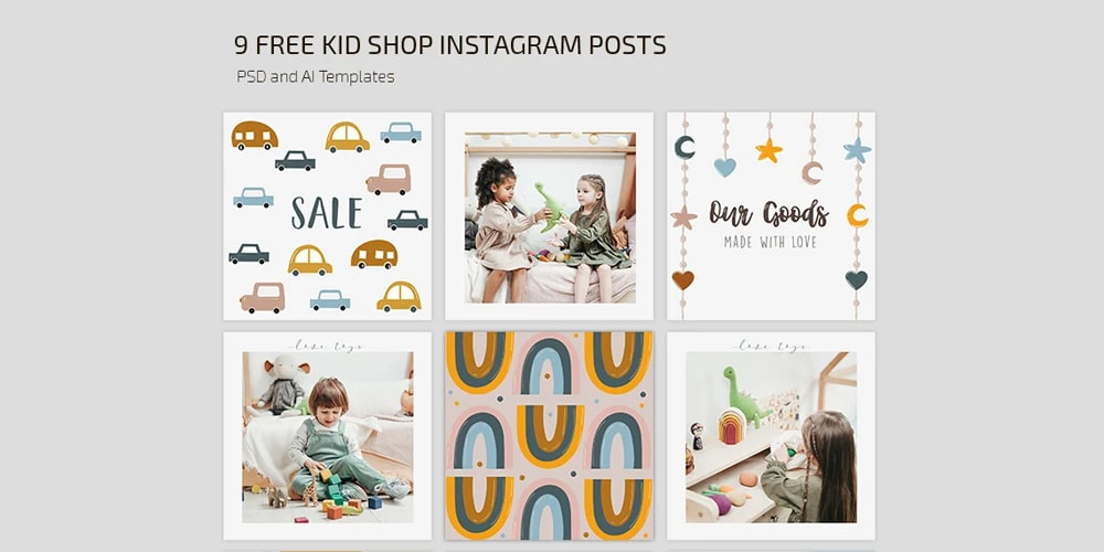 Toy Shop Instagram Post Templates