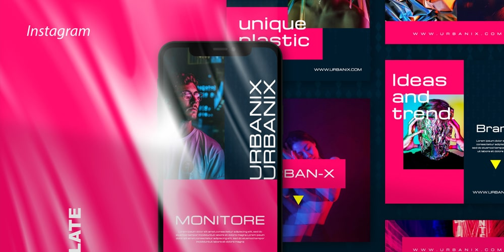 Urbanix  Instagram Post and Stories Template
