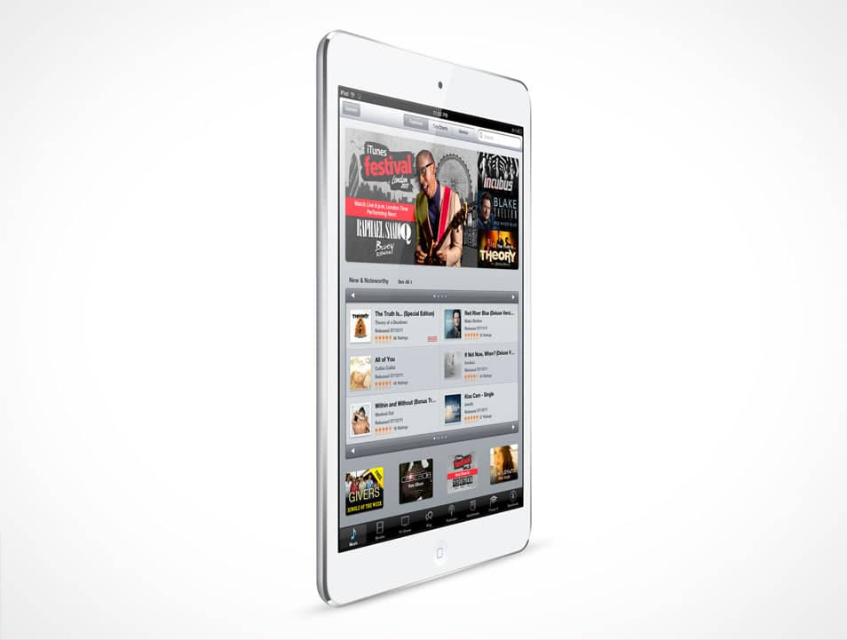 New White iPad Mini Mockup