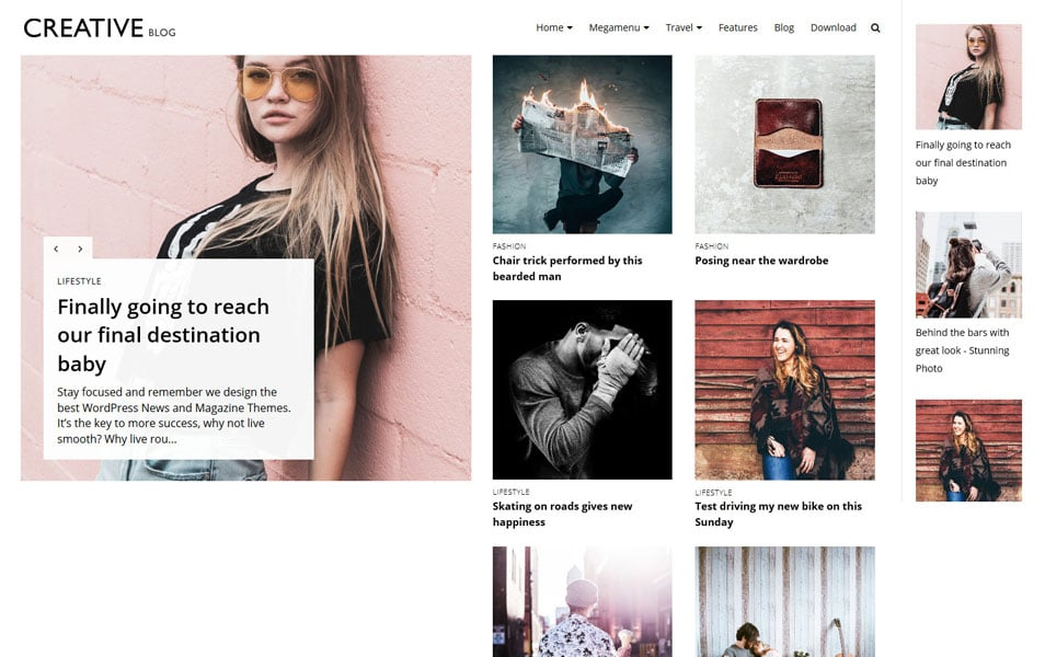 Creative Blog Responsive Blogger Template