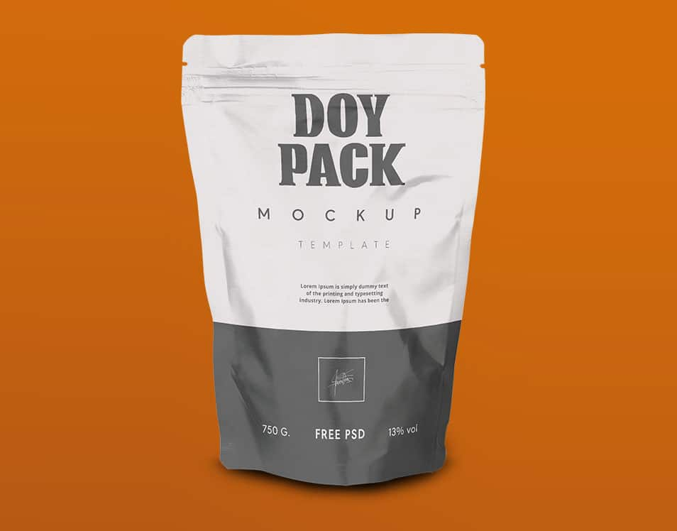Doy Pack Packaging Mock Up PSD Template
