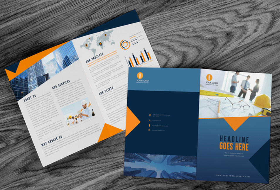 Free Brochure Mock-up PSD