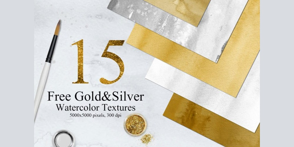 Free-Gold-And-Silver-Colors-Watercolor-Textures