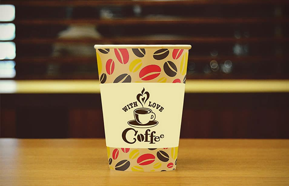 Free PSD Coffee Cup Mock-up