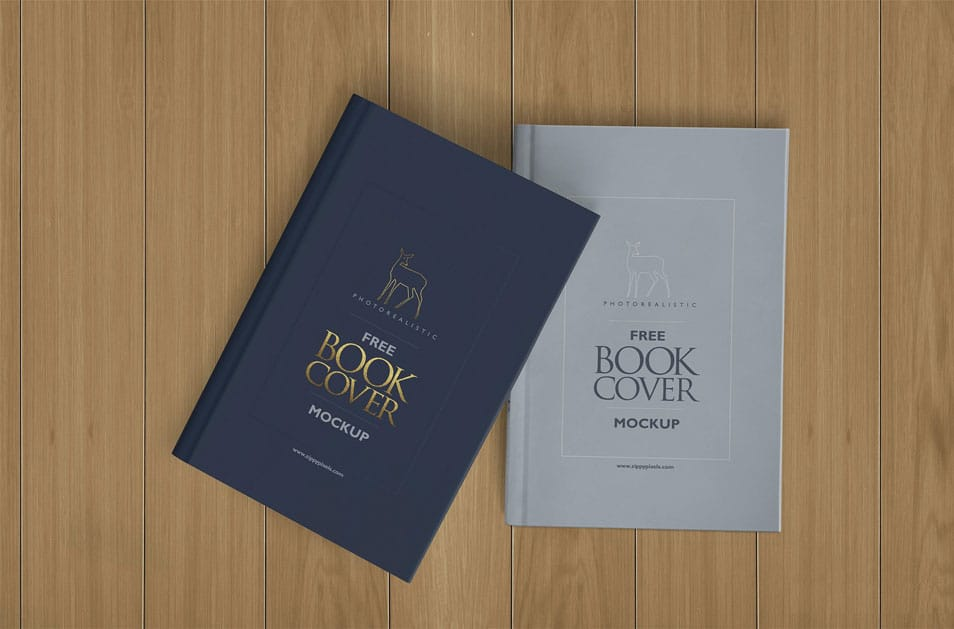 Free Photorealistic Hardcover Book Mockup