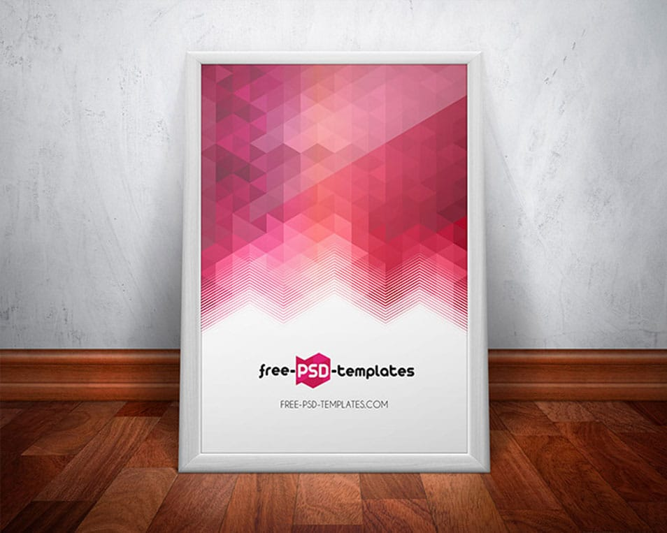 Free Poster Mock-up in PSD