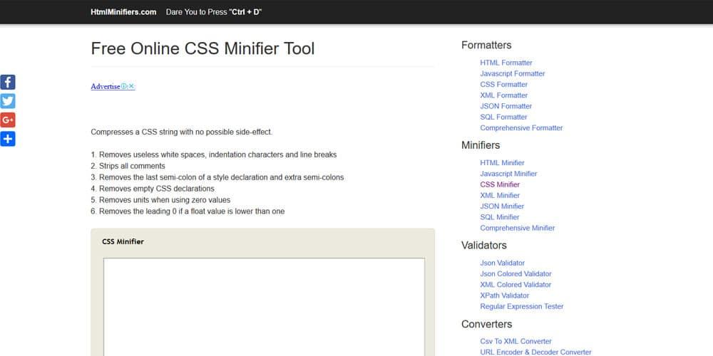 CSS Minifier Online