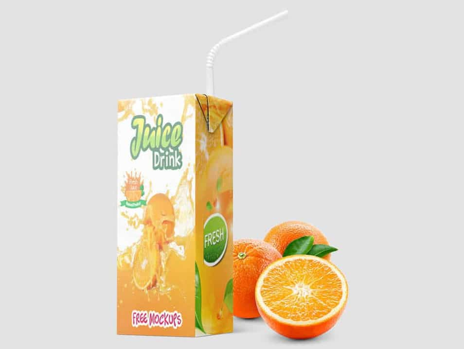 Juice Drink Packaging Mockups