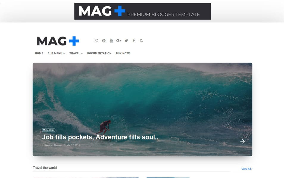 MagPlus Responsive Blogger Template