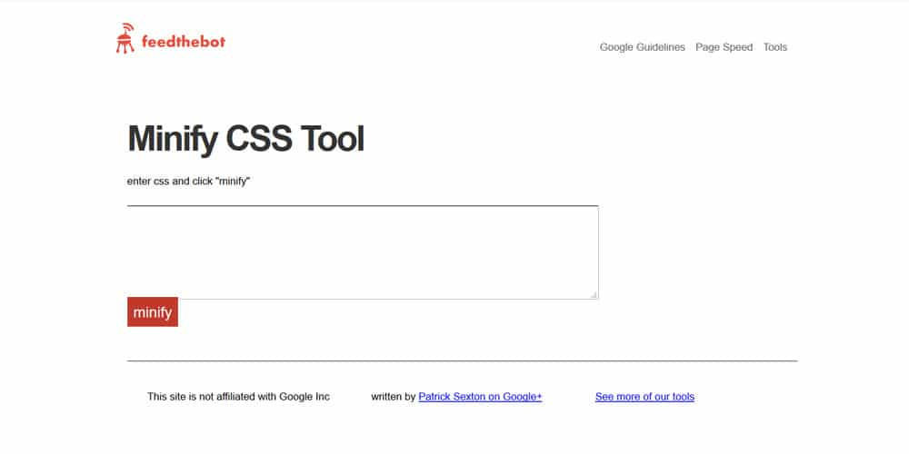 Minify CSS Tool