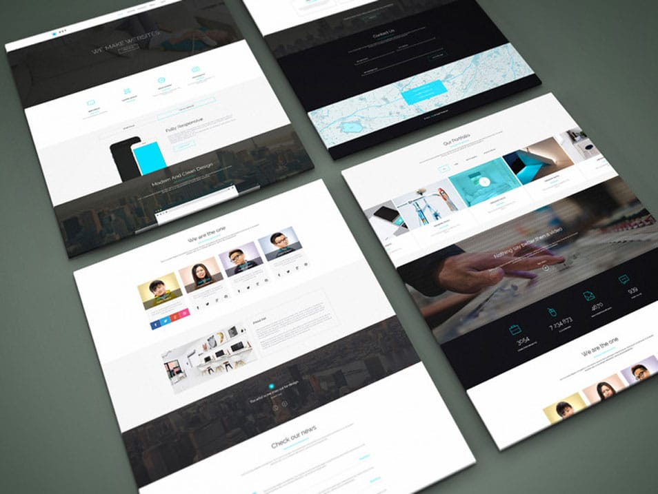 Perspective Website PSD Mock-Up