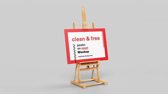 Poster on Easel Mockup