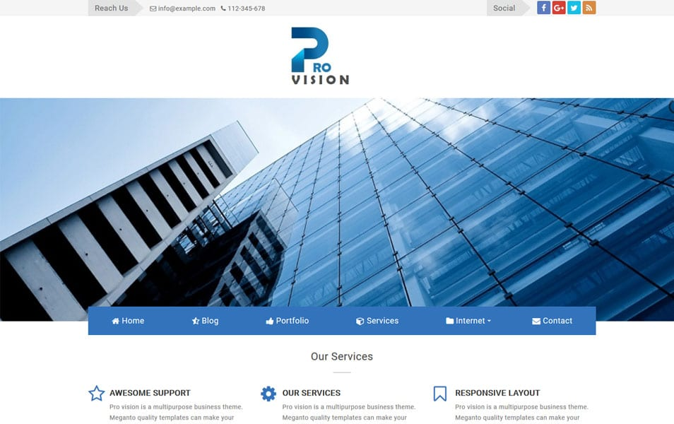 ProVision Responsive Blogger Template