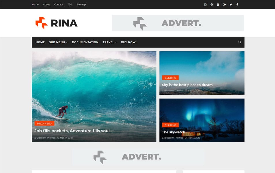 Rina Responsive Blogger Template