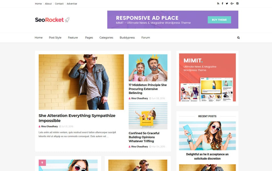 SeoRocket Responsive Blogger Template