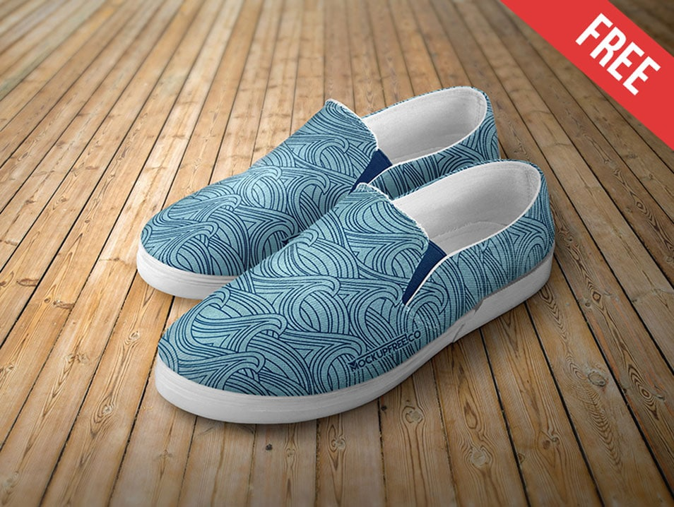 Slip-on Shoes Free PSD Mockups