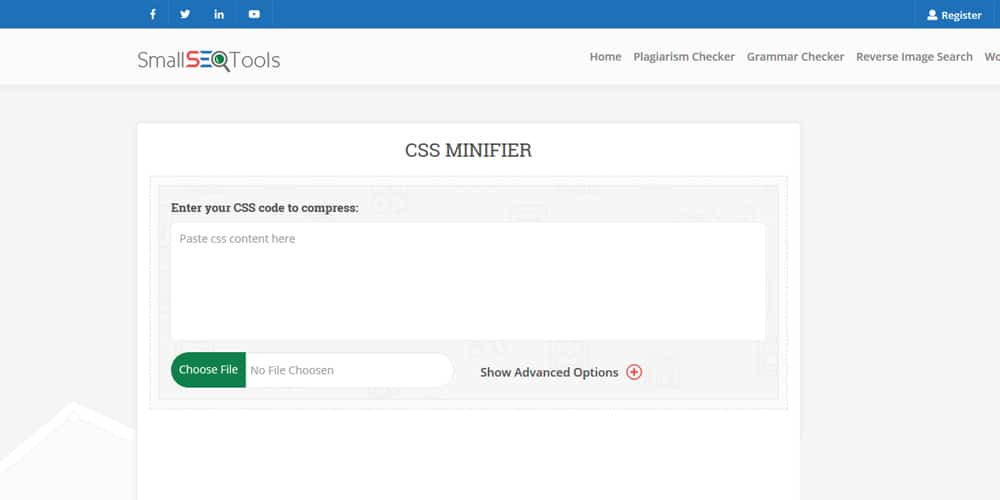 Smallseotools CSS Minify